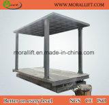 Carro de tesoura mesa elevatória com tejadilho