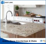 Bancada de pedra artificial da cozinha para o material de construção com relatório do GV & certificado do Ce (cores de mármore)