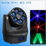 indicatore luminoso capo mobile del fascio LED dell'occhio dell'ape 15W 6