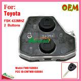 Дистанционный интерьер для автоматического Тойота с 2 кнопками Fsk433MHz Fccid-Cwtwb1g0084