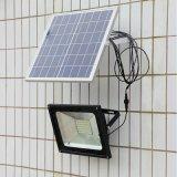 Прожектор заливающего света солнечных батарей для наружного прожектора безопасности солнечной энергии солнца.