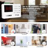 LCD GSM van de Vertoning het Systeem van het Alarm voor het Veiligheidssysteem van het Huis met Androïde APP/Ios