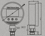 Alta qualità parte inferiore dell'acciaio inossidabile da 4 pollici che monta il manometro di Digitahi