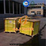 Polpa de madeira 100% virgem 60gsm, papel Offset creme