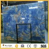 Qualitättransparenter blauer Polieronyx für Hintergrund-Wand-Fliesen