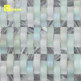 Mosaici incurvati mosaico di cristallo Mixed di marmo
