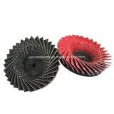 압축 공기를 넣은 공구에 의하여 사용되는 모래로 덮는 컵 플랩 바퀴