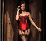 De sexy Vlek van Cosplay van het Ondergoed van het Korset van het Paleis van het Kostuum van het Lichaam van het Leer