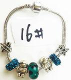 De zilver Geplateerde Armband P 016 van de Charme van de Parels van het Kristal van de Ketting van de Slang