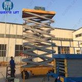 Piattaforma di funzionamento sospesa elevatore materiale su ordine della coda di caricamento con