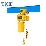 Txk Équipement de levage 2 tonne Electirc palan électrique à chaîne avec chariot