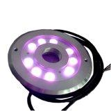 9X3w RGB LED DMX Fontaine IP68 éclairage annulaire