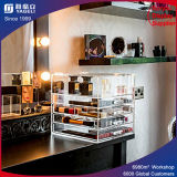 Organisateurs cosmétiques acryliques de renivellement de tiroirs de renivellement d'organisateur avec des couvercles