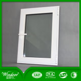 Finestra di alluminio della stoffa per tendine della rottura termica UPVC di vetratura doppia