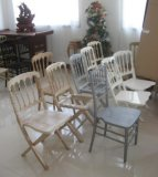 Wholesale Rental를 위한 세척된 White Napleon Folding Chair