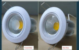 Luz LED regulable LED Downlight LED Luz de techo