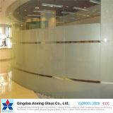 Folha/horizontalmente vidro endurecido/Tempered do espaço livre para a parede do edifício/cortina