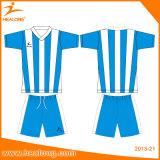 Healong embroma talla All Over los uniformes de Jersey del fútbol de la sublimación
