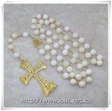 Plastikrosenbeet-Kreuz-Halsketten-katholisches Rosenbeet (IO-cr240)