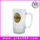 冷たいカラー変更のガラスコップビールコップ
