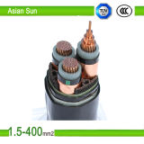 Câble/câble d'alimentation de cuivre aériens de faisceau isolés par XLPE