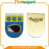 Abnehmer-Entwurfs-Decklack mit Metallabzeichen