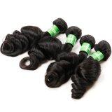 Tessuto naturale dei capelli ricci dell'onda allentata dei capelli di Remy