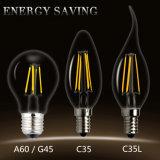 Lâmpada de vidro do candelabro do bulbo de Edison da luz do filamento do diodo emissor de luz de E27 E14