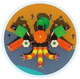 O jogo ao ar livre do equipamento do campo de jogos das crianças da alta qualidade ajusta HD-Tsg014