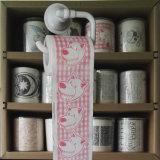 Toalla de cocina modificada para requisitos particulares impresa moneda de la novedad del papel higiénico del tejido de tocador