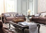 Klassisches hölzernes Gewebe-Sofa für Wohnzimmer