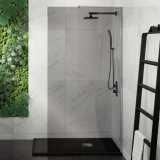 Faible prix 10mm Salle de bains avec douche en verre trempé marcher dans l'usine de l'écran