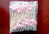 ピンクカラー花の形のタケカクテルの棒