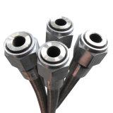 Edelstahl-gewölbtes umsponnene Metallflexibler Schlauch (JH-01)