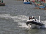 Liya 24.6FT Marine-Fiberglas, das steifer Rumpf-aufblasbares Boot fischt