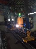 Máquina de estaca do plasma da câmara de ar da tubulação de aço do CNC de 3 linhas centrais