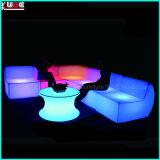 Mobilia di Lit del PE LED della mobilia del sofà LED della mobilia del LED