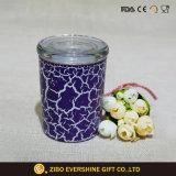 Vaso di vetro di memoria della caramella con la vernice di Crackle di colore