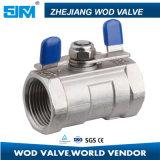 Válvula de esfera 1PC Q11f-1 do aço inoxidável mini (valvula)