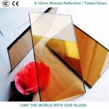 セリウムが付いている8mmの青銅色及び金青銅色の反射の/染められたガラス及びガラス窓のためのISO9001