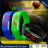 中国の工場流行のデジタル腕時計の女性(DC-1016)のための熱い販売のシリコーンLEDの腕時計