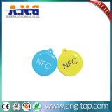 Imprimé personnalisé ronde clé époxy RFID Tags Carte avec cordons