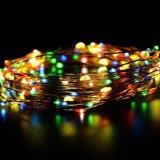 2017 luzes feericamente pstas solares do diodo emissor de luz do Natal do feriado
