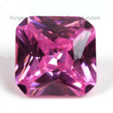 Machine Cut Square Shape Pink Cubic Zirconia with Wholesale Price