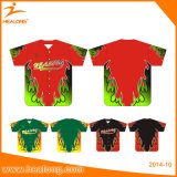 Healong Sublimation-Soem kundenspezifischer Form-Baseball Jersey