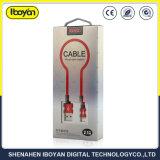 Cabo USB de 1 m de raio do fio do carregador de dados para o telefone celular