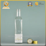 бутылка квадрата крышки винта 250ml стеклянная для оливкового масла (092)