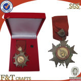 Velvet Boxes를 가진 Ribbons를 가진 관례 3D Military Metal Medals