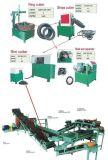 Pneumático Waste que recicl máquinas para o pó de borracha