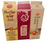 caixa 3-Layer da caixa da parte superior do frontão 907g para o suco/leite/creme/vinho/água/iogurte